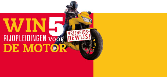 Win 5 gratis motorrijopleidingen