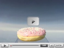 This donut made a journey into space
