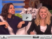 "Mila Kunis & Kate McKinnon play a hilarious game of ""Speak Out"""