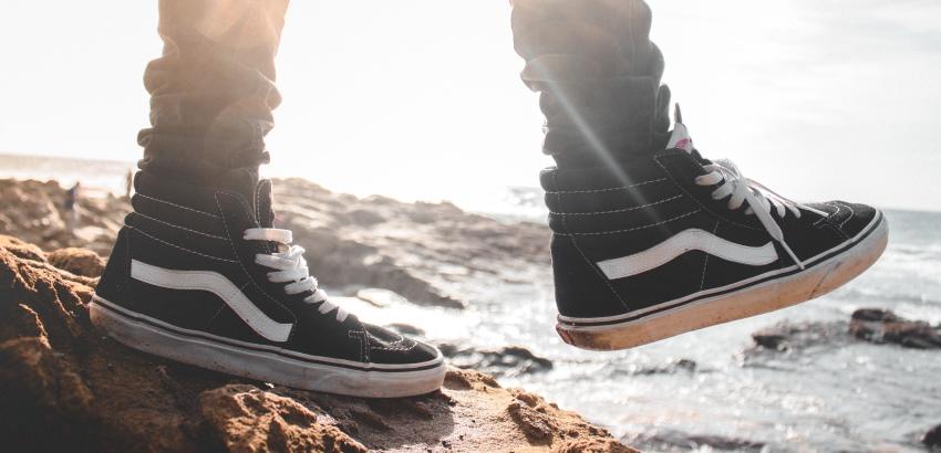 vans schoenen landen op zool